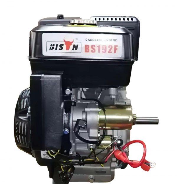 alt=Motore a scoppio BISON power 18hp avvio elettrico e batteria lato