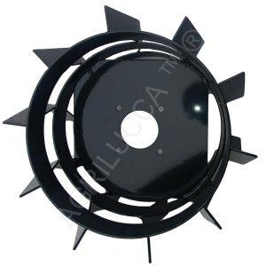 alt=Ruote in acciaio forgiato per motozappa
